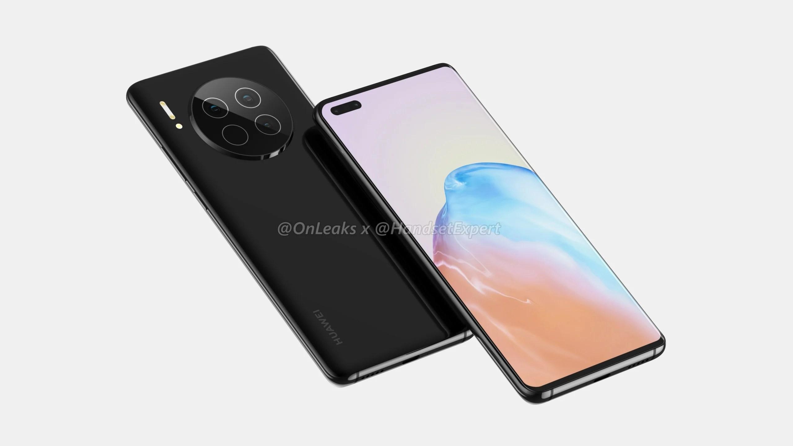 Huawei Mate 40 : voici son design avec 6 capteurs photo et écran incurvé