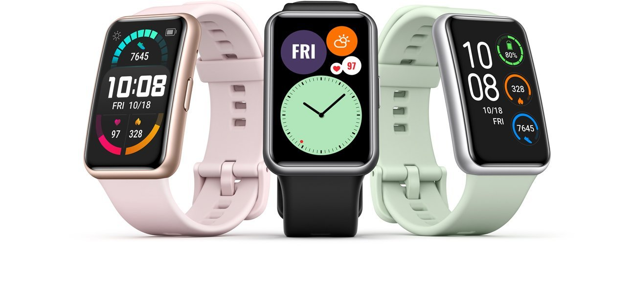 Avec sa Watch Fit, Huawei lance une montre connectée très inspirée de l'Apple Watch