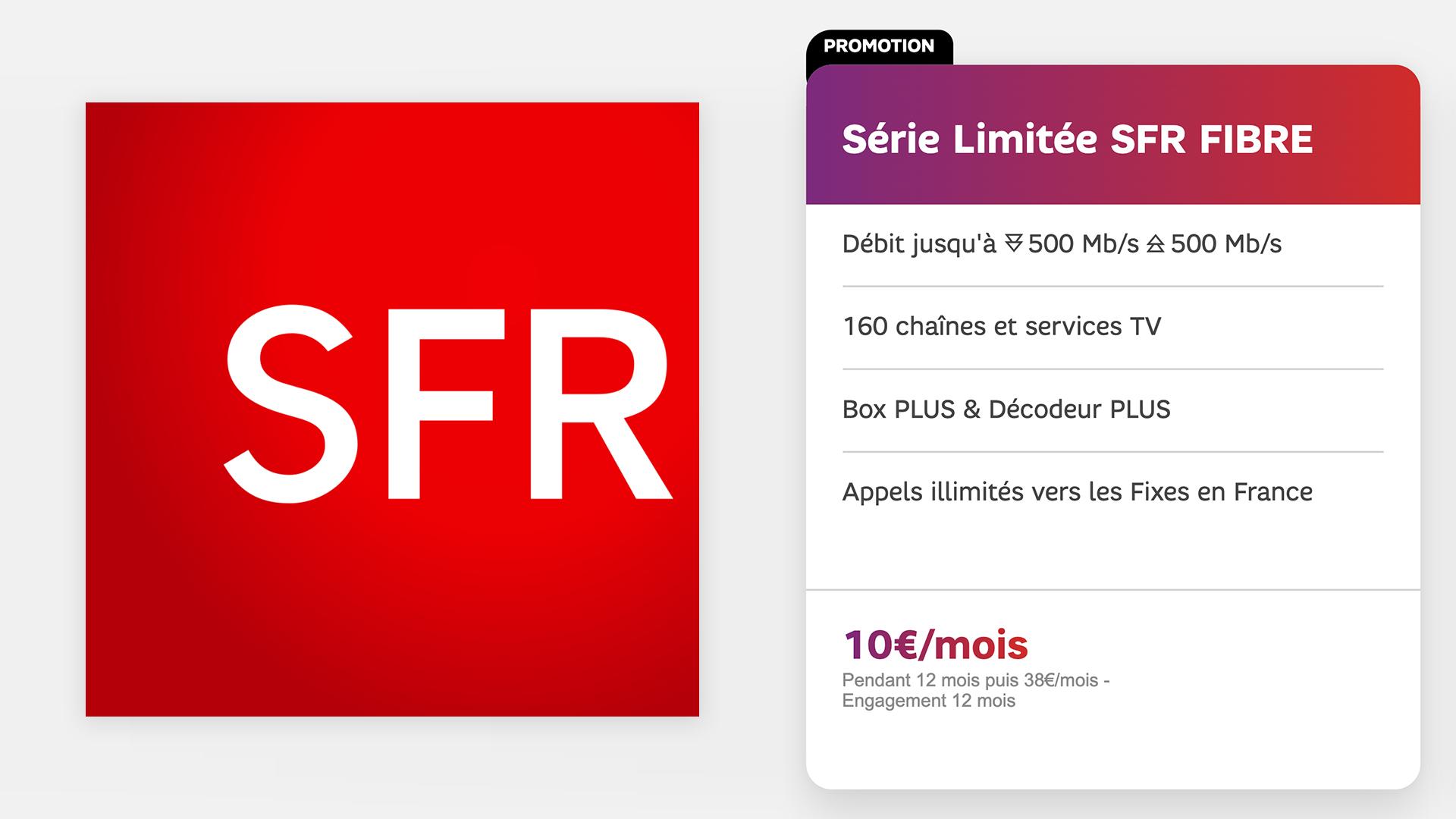 La meilleure offre fibre à 10 euros du moment est chez SFR