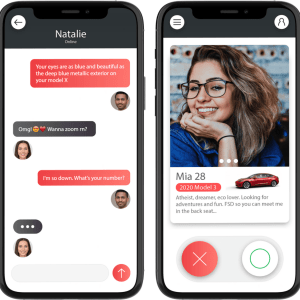 Tesla Dating : l'appli de rencontre qui veut faire matcher les fans de la marque