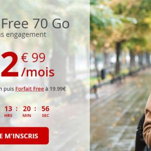 Free mobile lance un nouveau forfait 70 Go jusqu'à la semaine prochaine