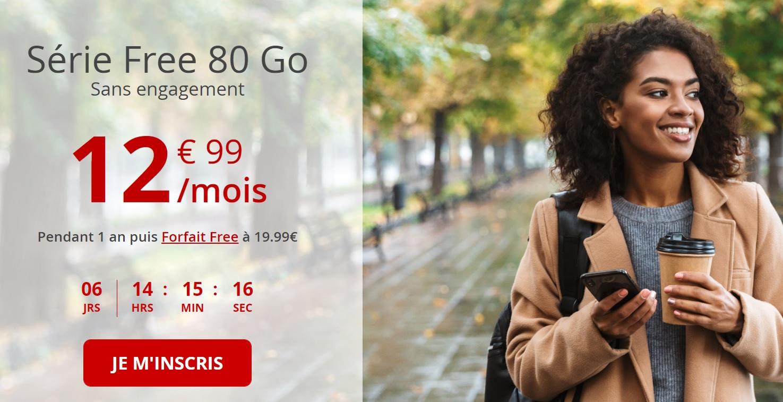 Free mobile prolonge son forfait 80 Go à 12,99 euros par mois