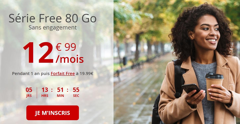 Free mobile remplace son forfait 70 Go par 80 Go, pour le même prix