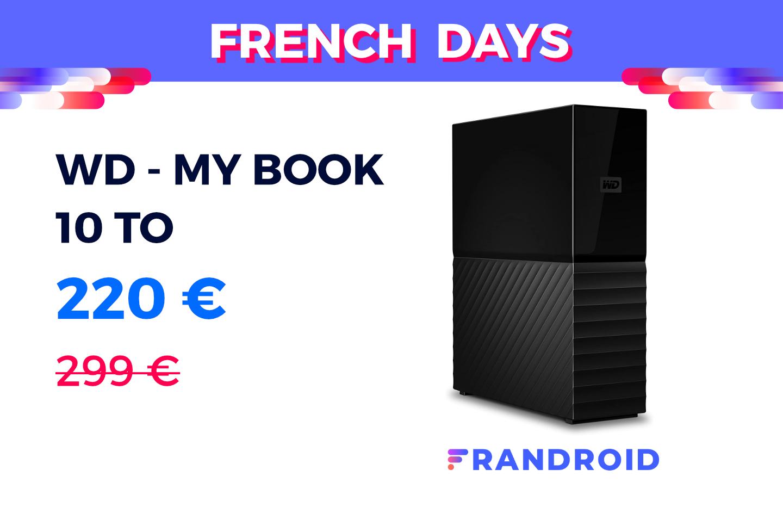 Gros stockage à petit prix avec ce disque dur externe 10 To en promotion pour les French Days
