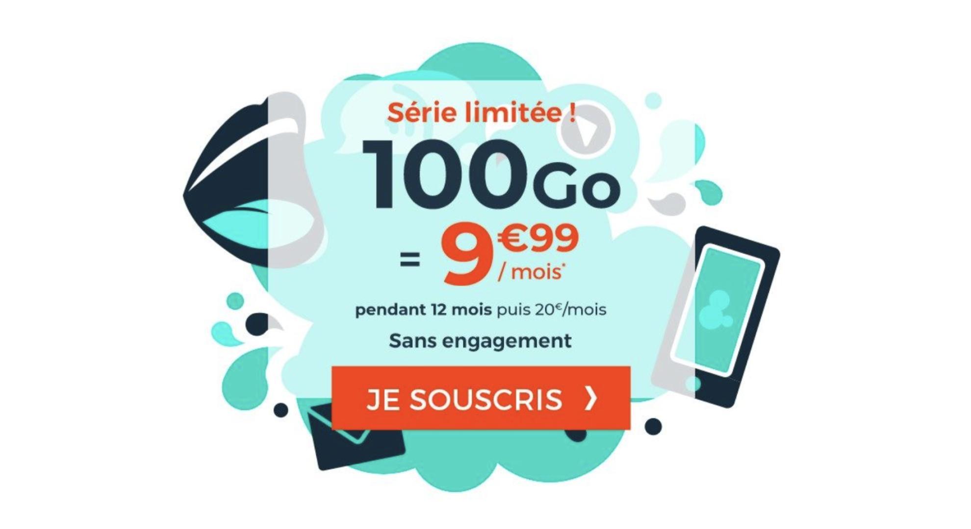 100 Go de 4G pour seulement 10 euros par mois avec ce forfait mobile