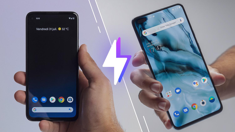 Google Pixel4a vs OnePlus Nord: lequel est le meilleur smartphone?