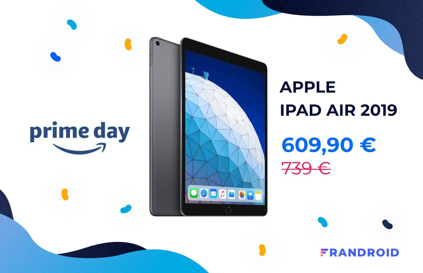 Plus de 100 € de réduction pour la version 256 Go de l'iPad Air 2019