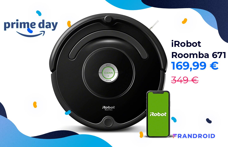 Le robot aspirateur iRobot Roomba 671 est à moitié prix pour le Prime Day