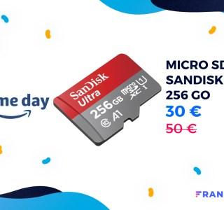 Seulement 12 centimes le Go pour une microSD 256 Go lors du Prime Day