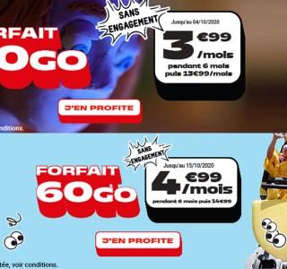 40 Go ou 60 Go : quel forfait NRJ mobile à moins de 5 € choisir ?