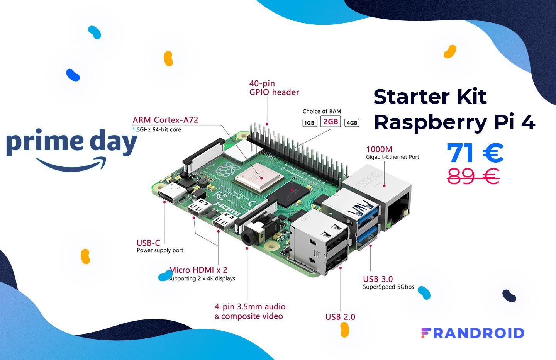 Le starter kit Raspberry Pi 4 est à -20% durant le Prime Day d'Amazon