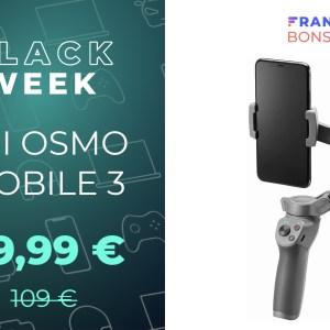 Pour des vidéos sans tremblement, le DJI Osmo Mobile 3 est à -26 %