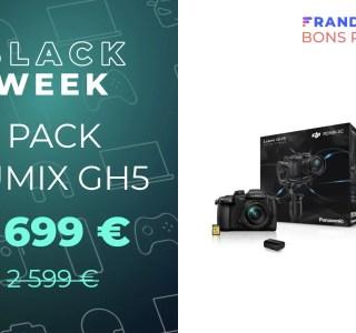 Le pack ultime pour bien démarrer avec le Lumix GH5 passe de 2 599 à 1 699 €