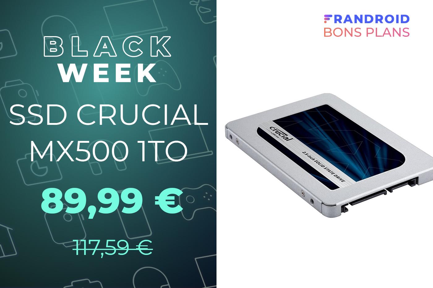 Le très bon SSD Crucial MX500 1 To est en promo à moins de 90 euros