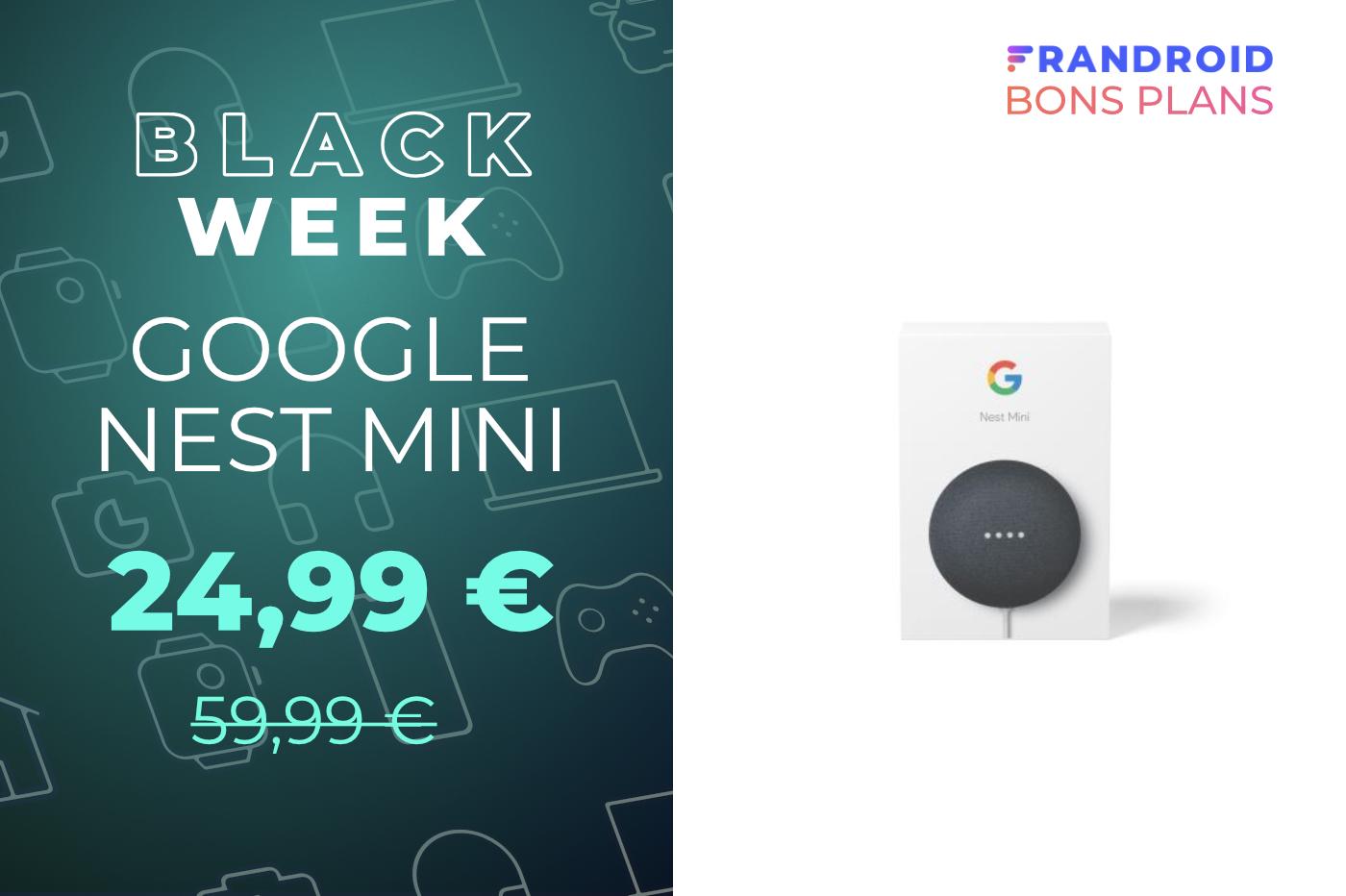 La plus petite des enceintes connectées de Google, la Nest mini, est à -58 %