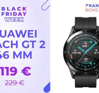 Le modèle 46 mm de la Huawei Watch GT 2 est presque à moitié prix : -48 %