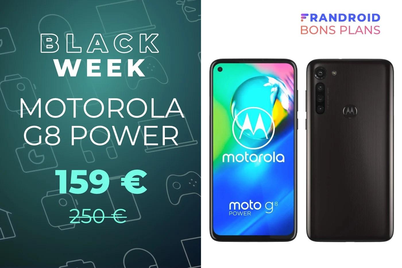 Une excellente autonomie avec le Motorola G8 Power en promo à 159 €