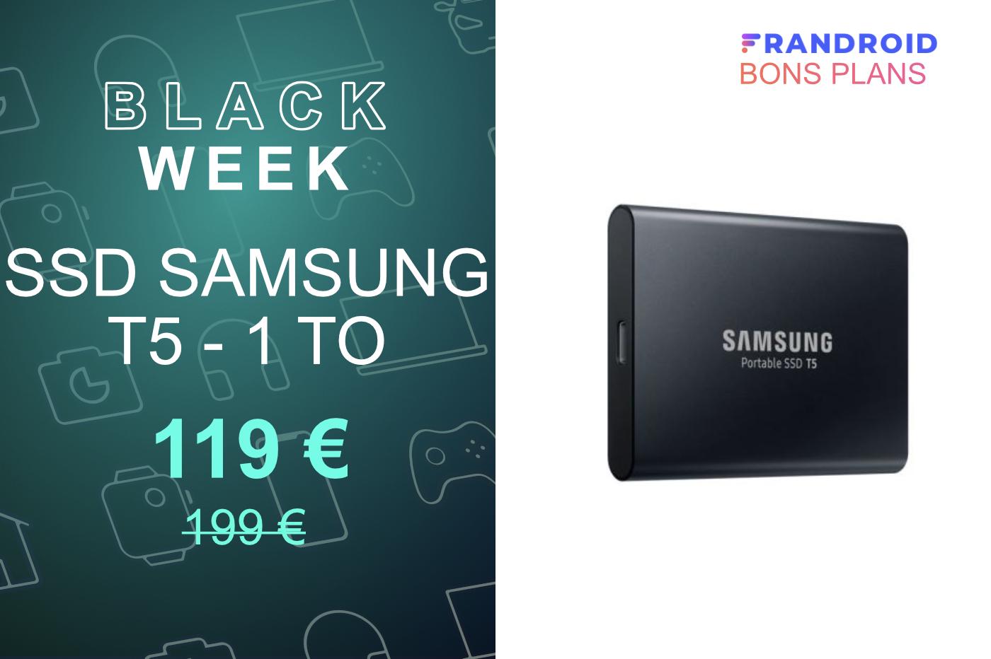 Le SSD Samsung T5 avec 500 Go ou 1 To de stockage est au plus bas