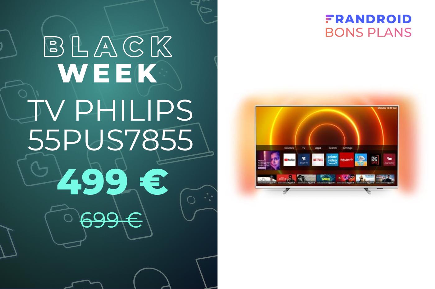 Profitez de l'Ambilight et de la 4K avec ce TV Philips en promotion à 500 euros
