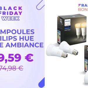 Moins de 50 euros pour 3 ampoules Philips Hue pendant le Black Friday