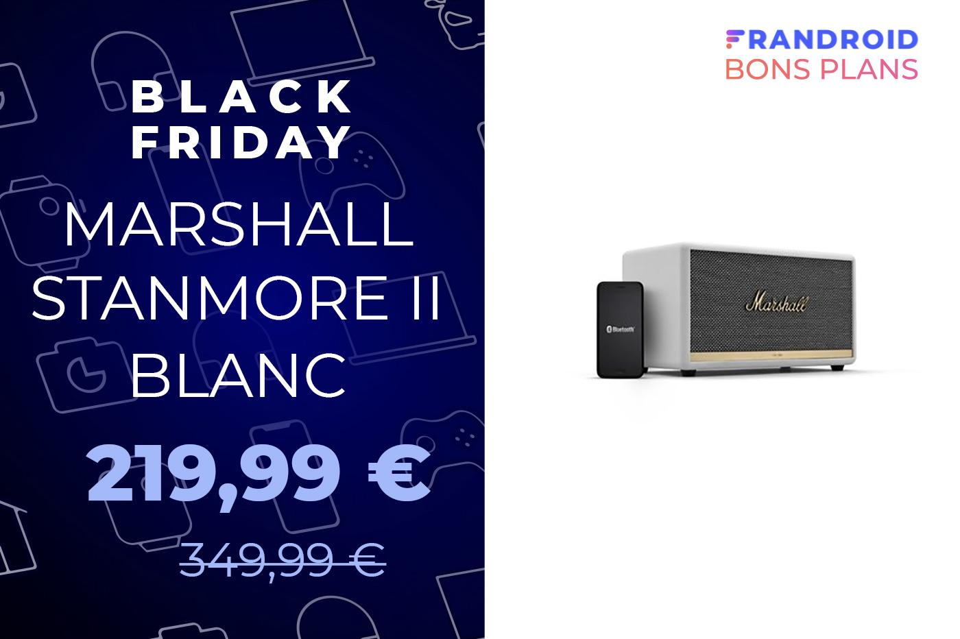 L'enceinte Marshall StanmoreII passe de 349 à 219 € pour le Black Friday