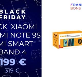 Le pack Xiaomi Redmi Note 9S + Mi Band 4 est à moins de 200 € grâce au Black Friday