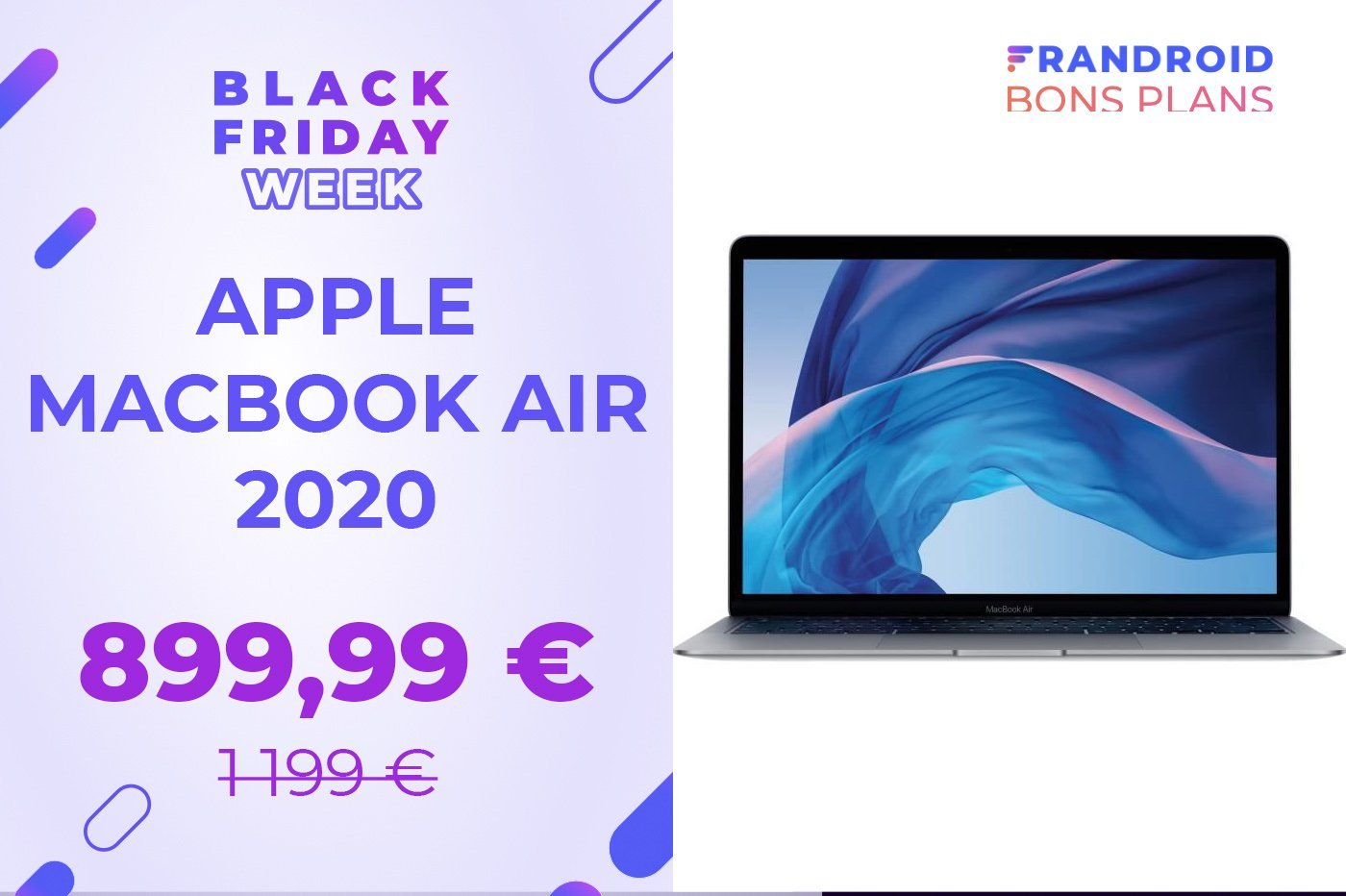 L'Apple MacBook Air 2020 est à -25 % pendant le Black Friday