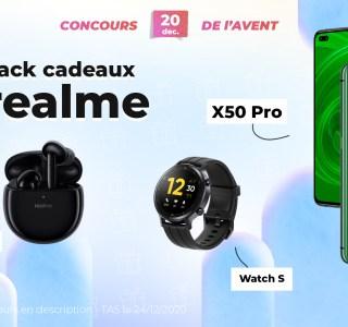 #FrandroidOffreMoi la totale Realme : un smartphone, une montre et des écouteurs