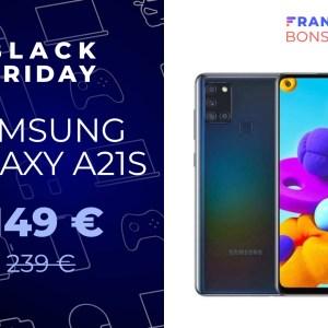 Le Samsung Galaxy A21s passe désormais sous les 150 euros pour le Black Friday