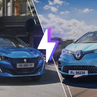Peugeot e-208 vs Renault Zoé : laquelle est la meilleure voiture électrique ?