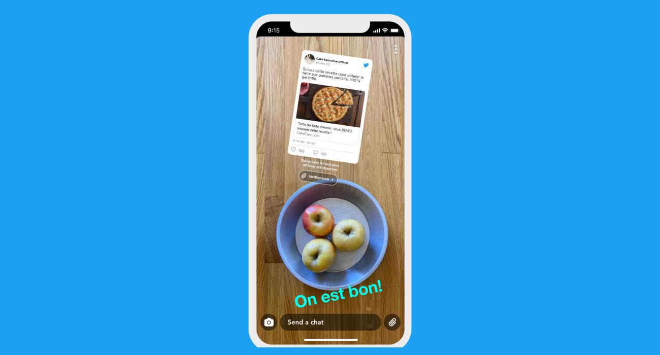 Vous pouvez désormais partager des tweets sur Snapchat (et bientôt sur Instagram)