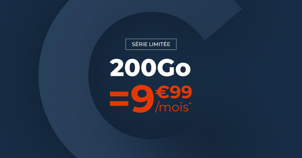 Soldes forfait mobile : 200 Go pour 9,99 €/mois (pendant 1 an), du jamais vu en 2021