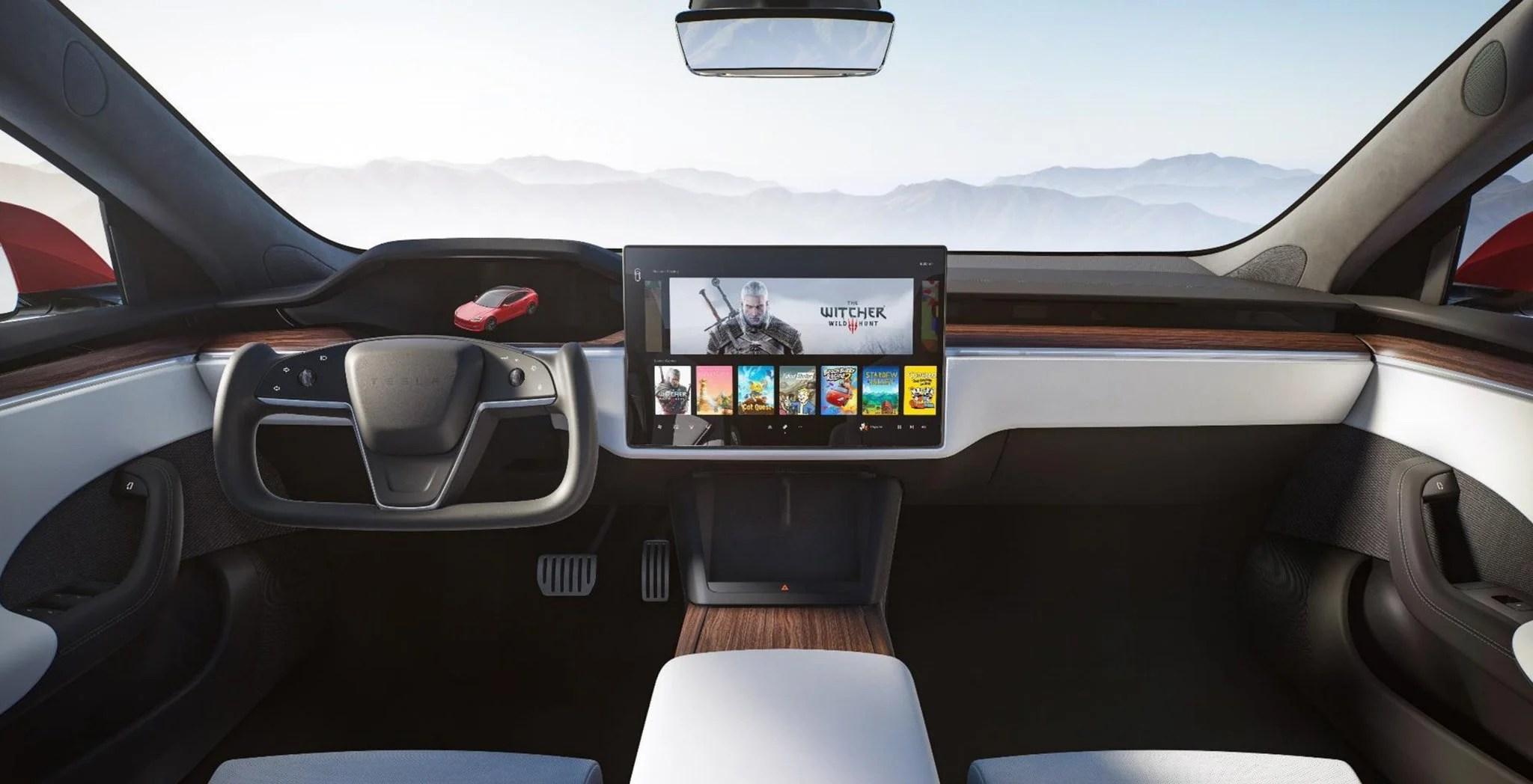 La nouvelle Tesla Model S est aussi une console de jeu avec la puissance graphique d'une PS5