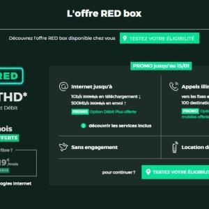 La Fibre 1 Gb/s à 25 euros par mois avec 2 mois offerts chez RED by SFR