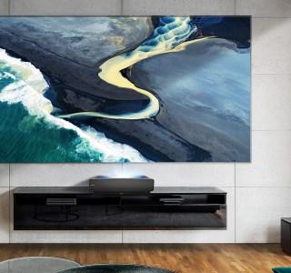 CES 2021 : Hisense Sonic Laser TV, le vidéoprojecteur 4K livré avec son «écran sonore»