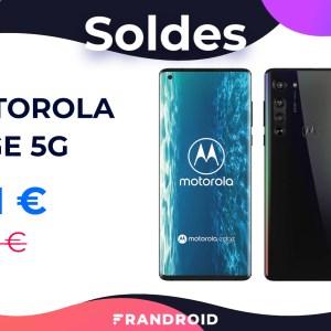 Sur Amazon, le Motorola Edge 5G est soldé à seulement 381 € au lieu de 599