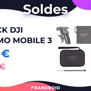 Le pack DJI Osmo Mobile 3 + accessoires revient à 95 € pour les soldes