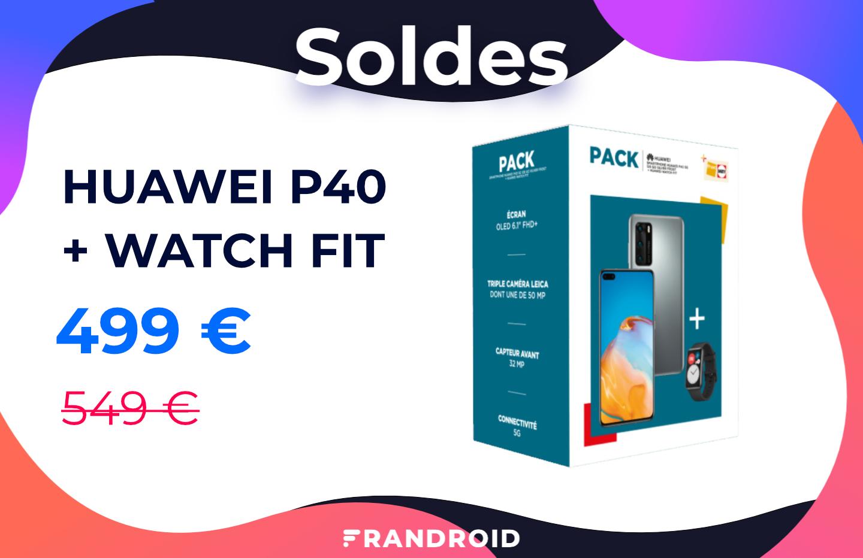 Ce pack Huawei P40 + Watch Fit est soldé à moins de 500 euros