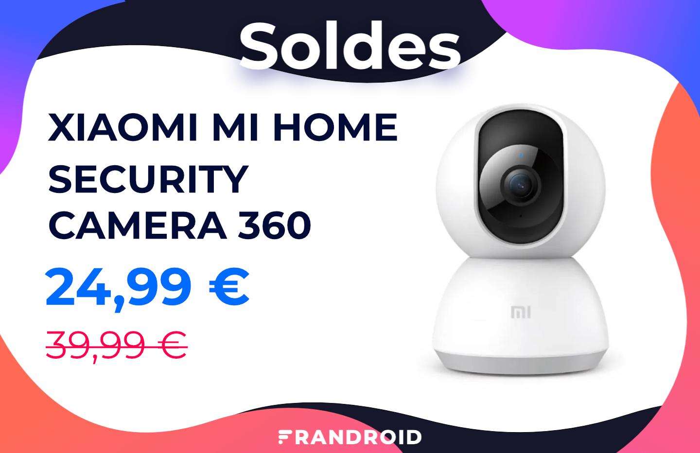 Pour les soldes, la Xiaomi Mi Home Security Camera 360 coûte 15 € de moins