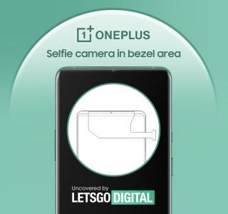 OnePlus pourrait mieux cacher sa caméra selfie dans la bordure en haut de l'écran