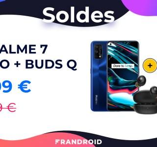 Le pack Realme 7 Pro et écouteurs sans-fil Buds Q tombe sous la barre des 300 euros
