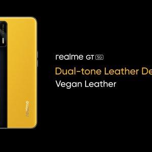 Realme GT officialisé : Snapdragon 888 sous le capot, cuir végan sur le dos