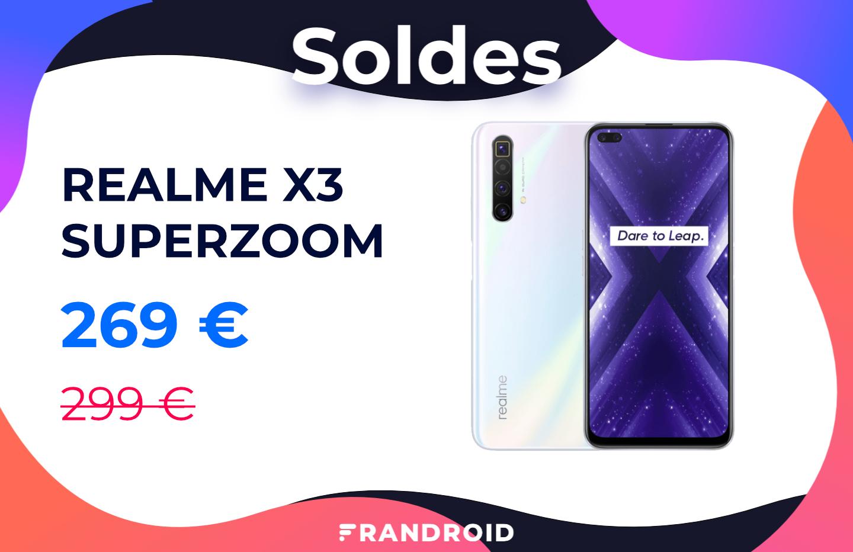 Pendant les soldes, le Realme X3 SuperZoom est à moins de 270 euros chez Cdiscount
