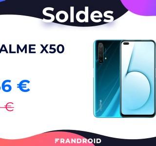 Le Realme X50 profite d'un code promo pour devenir l'un des smartphones 5G les moins chers du marché