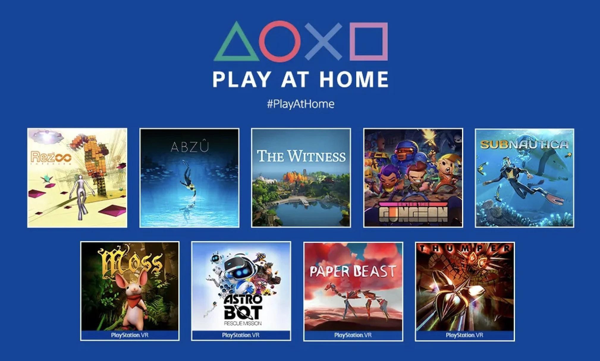 Play At Home: 9 jeux gratuits sont à télécharger dès maintenant sur PS4 et PS5