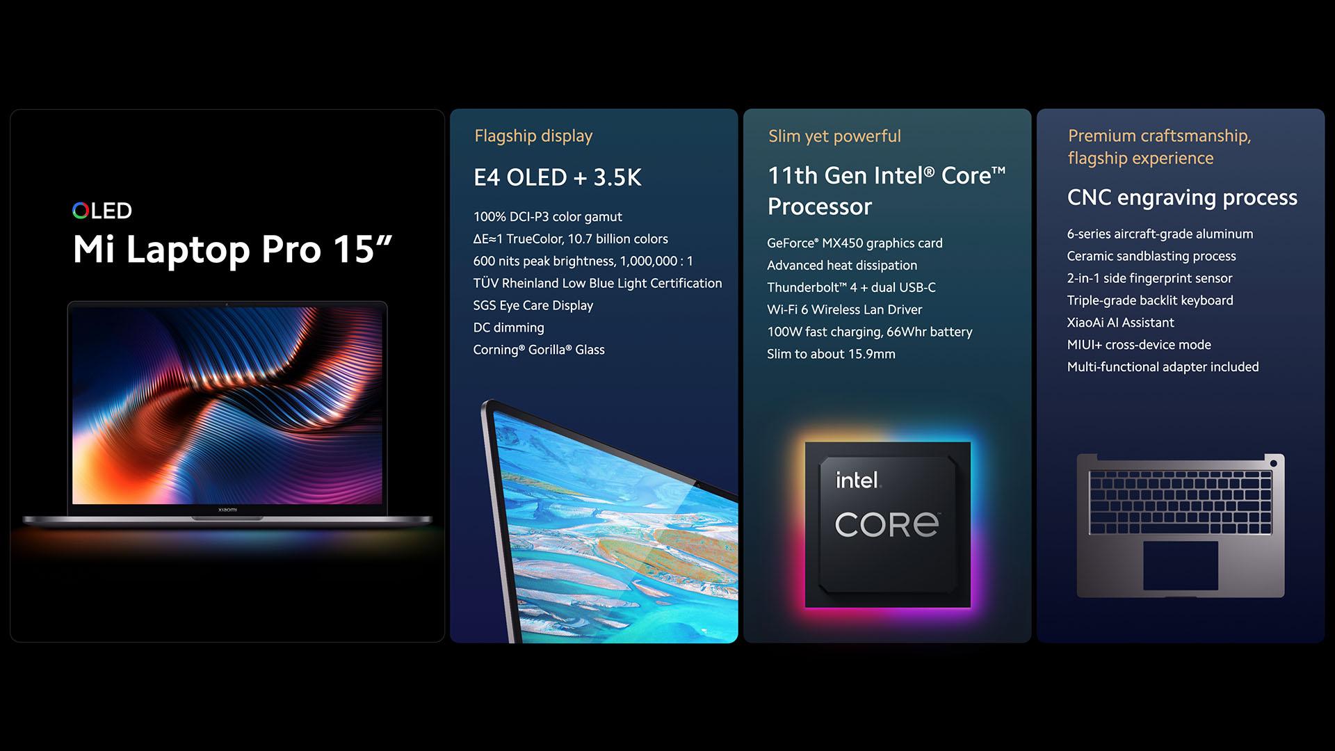 Xiaomi Mi Laptop Pro 15: OLED, Nvidia GeForce MX450… mais malheureusement ce n'est pas pour nous