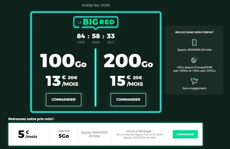 200 Go de 4G dans un forfait mobile à seulement 15 euros par mois