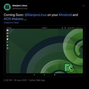La distribution GNU/Linux Manjaro annonce son arrivée sur Android mais aussi sur… iPad !