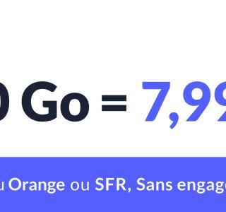 Avec 40Go pour seulement 7,99euros par mois: ce forfait mobile joue la carte du rapport qualité-prix