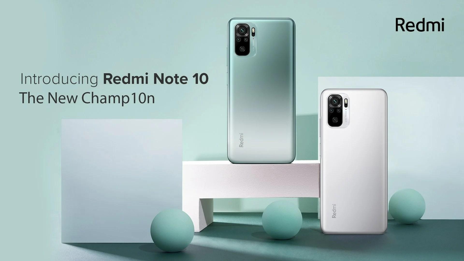 Xiaomi Redmi Note10, Note 10Pro et Note 10Pro Max: les caractéristiques dévoilées en Inde
